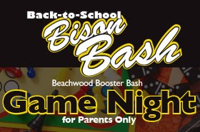 Athletic Booster Bison Bash Game Night