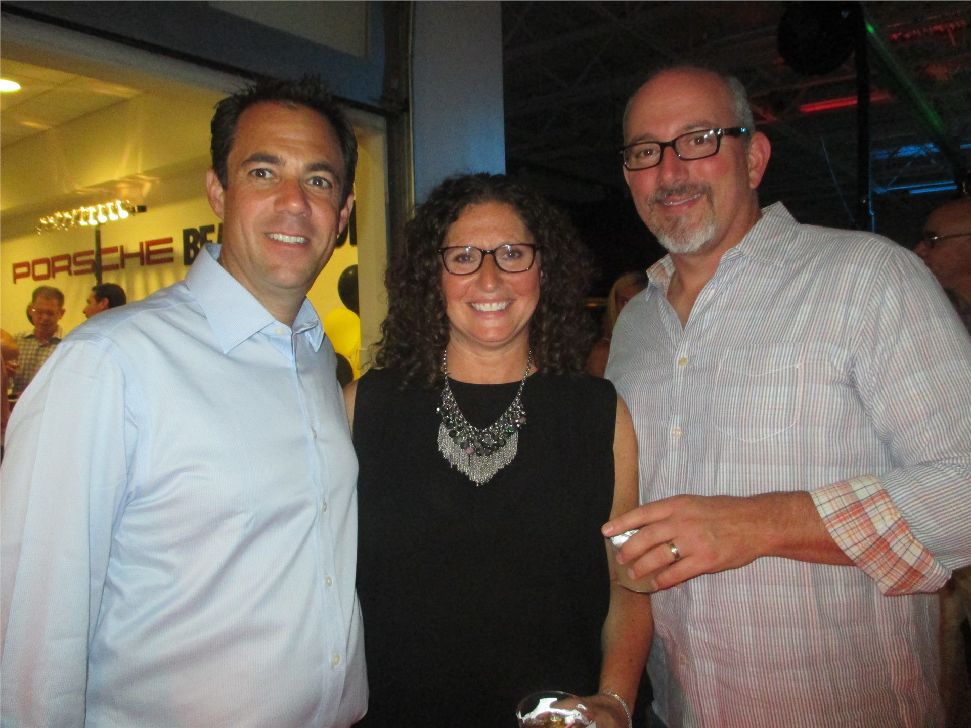 School Board Member Joshua Mintz with Julie and Michael Frayman