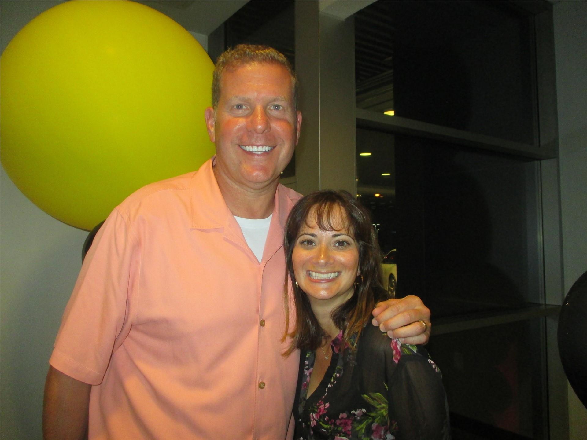 Booster Treasurer Robert Marks and Beachwood Foundation Board Member Jen Stern