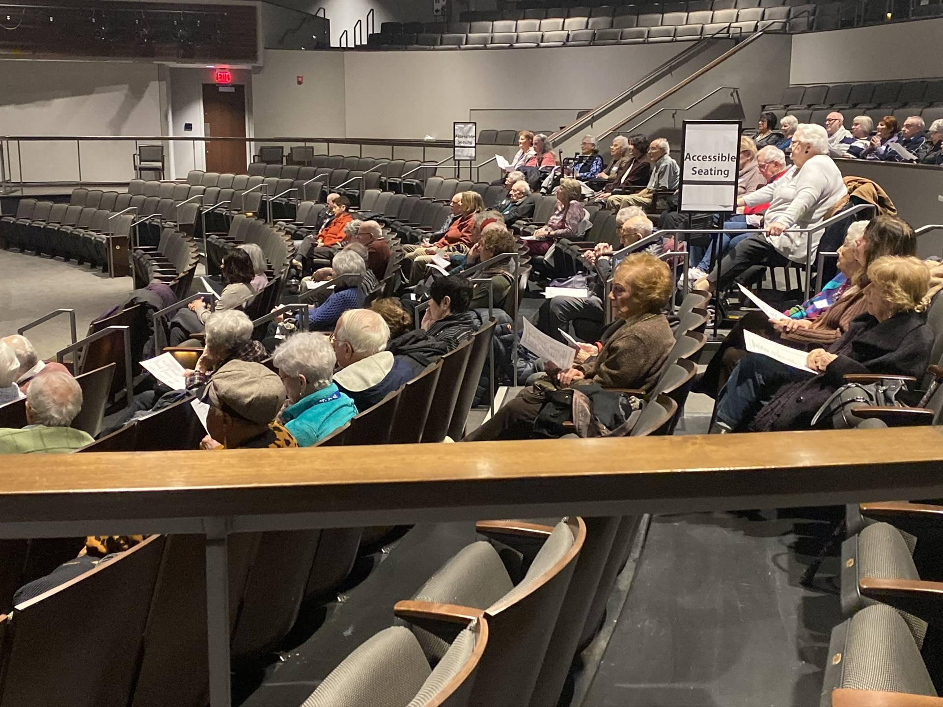 Elderclass in auditorium