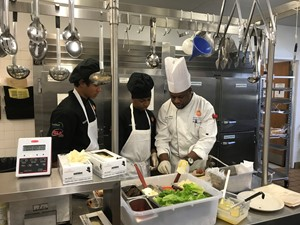 Chef Wilson instructing Culinary students