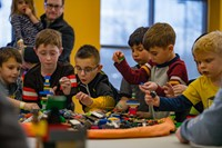 boys playing lego